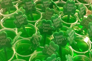 Green Jell-O Shots