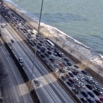 Traffic pileup on Lake Shore Drive