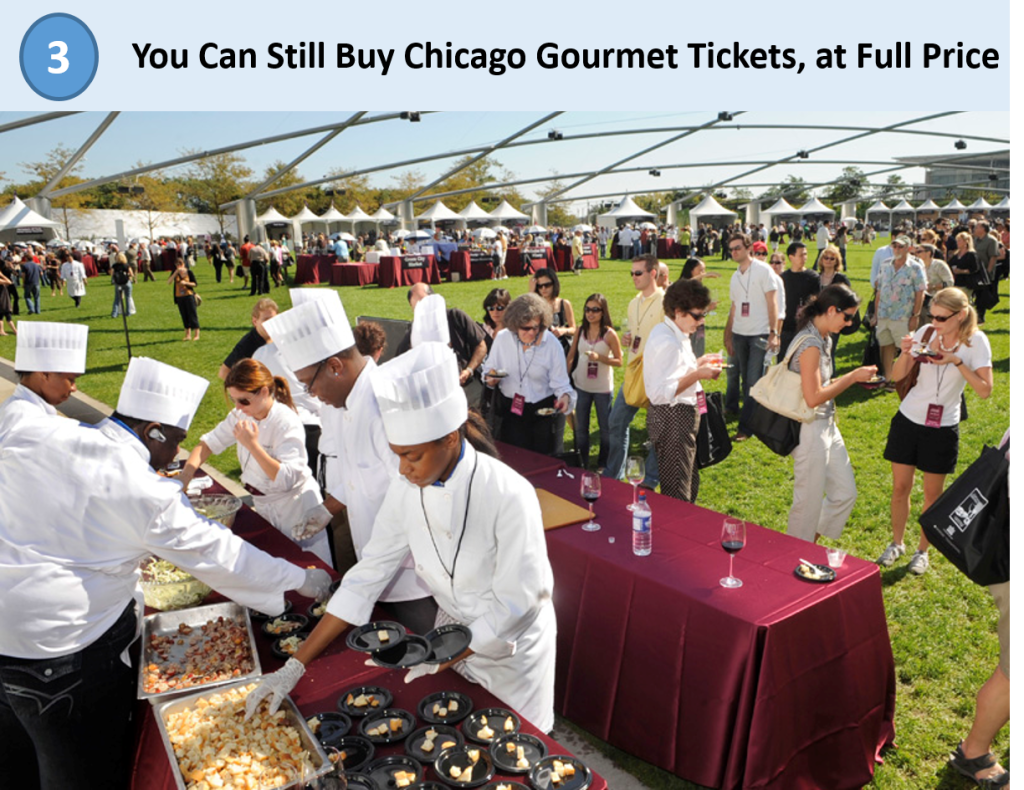 3. Chicago Gourmet Tickets