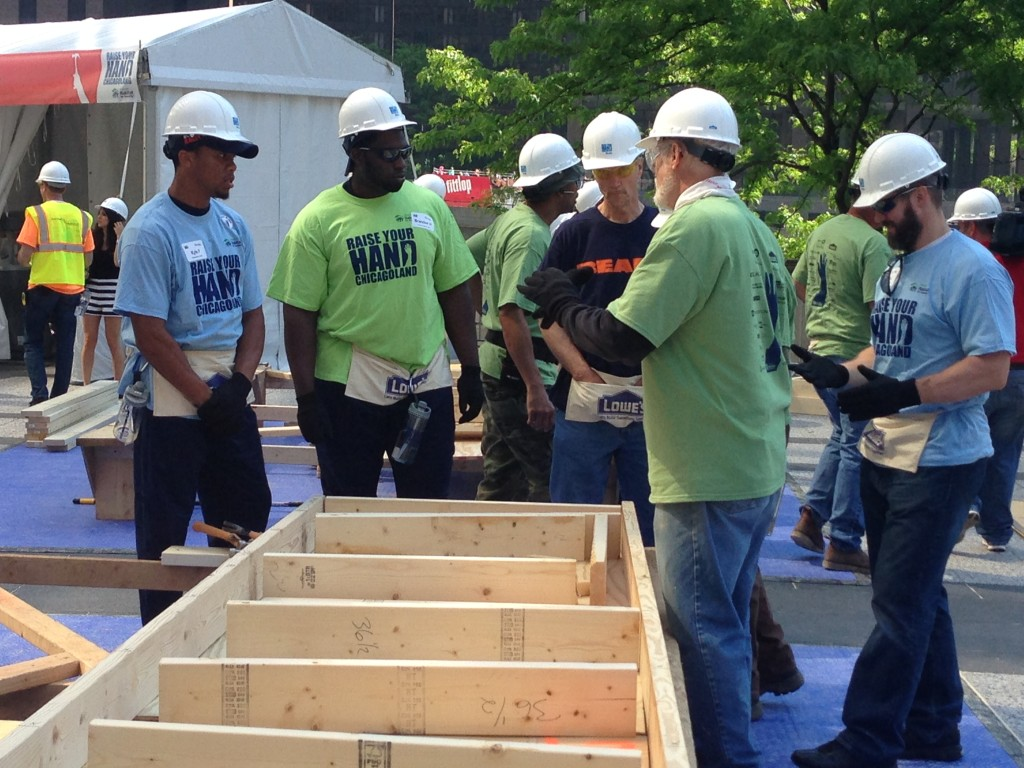 Chicago Bears Helping with Habitat for Humanity