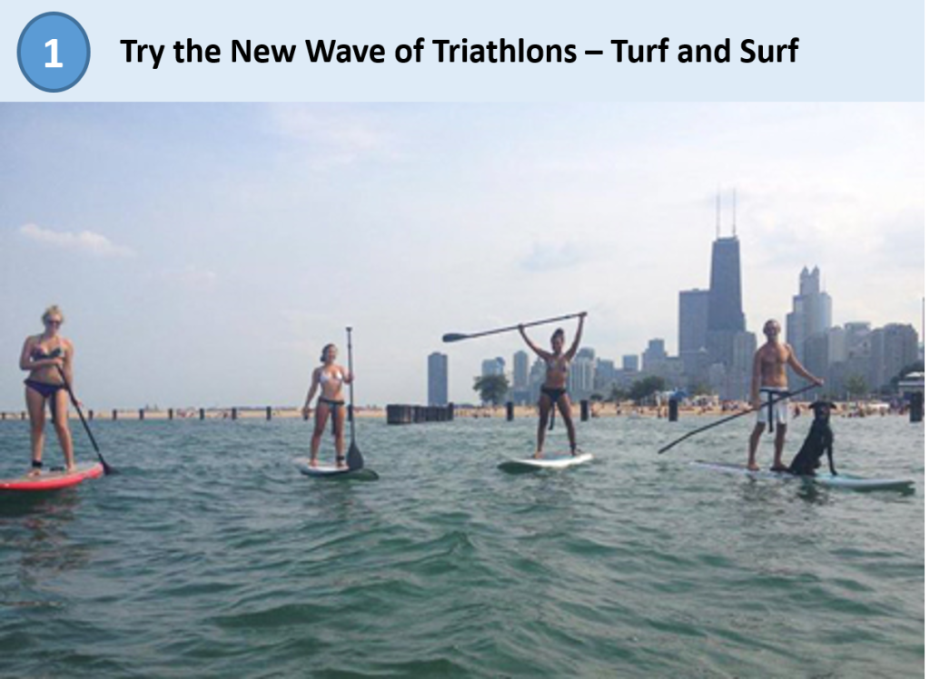 go cycle, turf and surf triathlon, standup paddle boarding