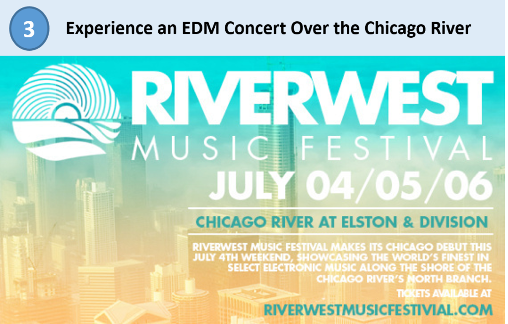 chicago river, edm chicago, chicago music festival